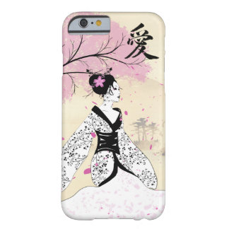 Geisha de fleurs de cerisier coque barely there iPhone 6