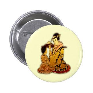Geisha d'or badge avec épingle