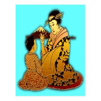 Geisha d'or cartes postales