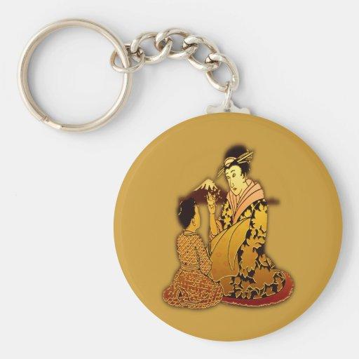 Geisha d'or porte-clef