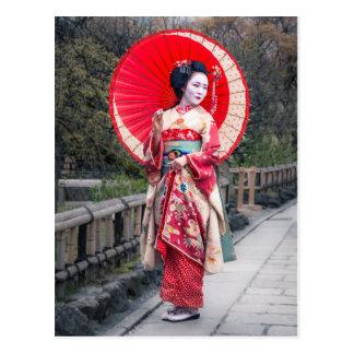 Geisha japonais à Kyoto Cartes Postales