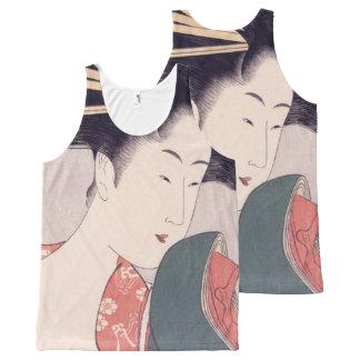 Geisha japonais débardeur tout-imprimé