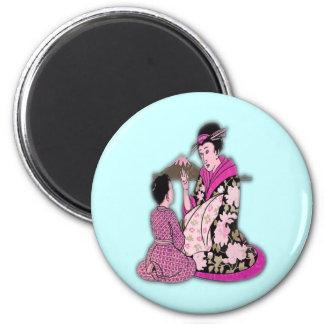 Geisha Magnet Rond 8 Cm