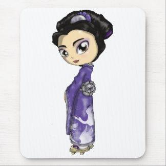 Geisha merveilleux de grues tapis de souris