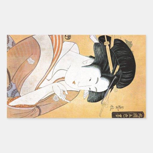 Geisha oriental frais de Classei de Japonais Autocollant
