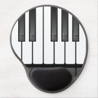 Gel Mousepad de conception de clavier de piano Tapis De Souris Gel
