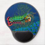 Gel Mousepad de crevette de mante de paon Tapis De Souris Avec Gel