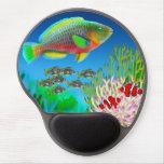 Gel Mousepad de scare de récif coralien Tapis De Souris Gel