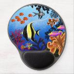 Gel Pacifique Mousepad de poissons de récif corali Tapis De Souris Gel