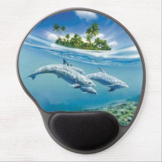 Gel tropical Mousepad d'imaginaire d'île Tapis De Souris Avec Gel