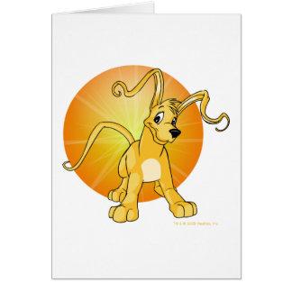 Gelert jaune espiègle carte de vœux