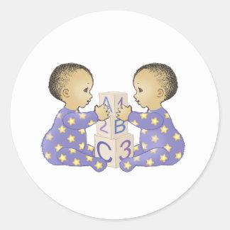 Gémeaux AstrologyBabies - AstroBébés Gémeaux Autocollants Ronds