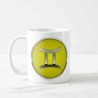 Gémeaux de Gémeaux de tasse de signe de zodiaque