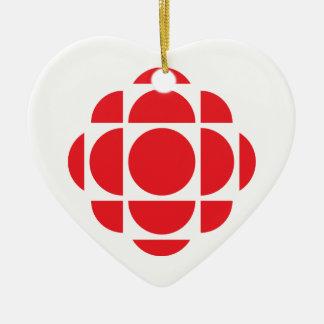 Gemme de CBC/Radio-Canada Ornement Cœur En Céramique