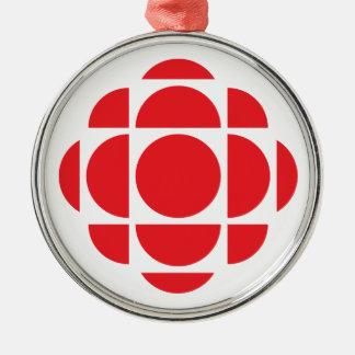 Gemme de CBC/Radio-Canada Ornement Rond Argenté