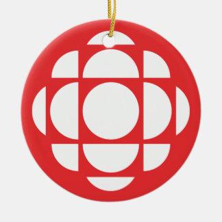 Gemme de CBC/Radio-Canada Ornement Rond En Céramique
