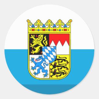 Gemme de drapeau de Bavière Adhésifs Ronds