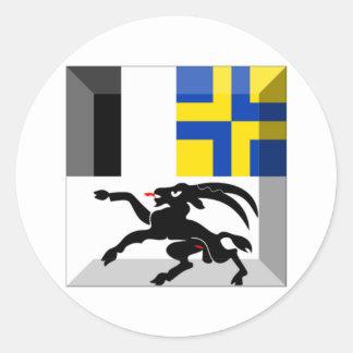 Gemme de drapeau de Graubuenden Autocollant Rond
