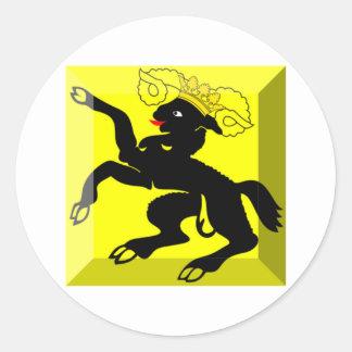 Gemme de drapeau de Schaffhausen Autocollants Ronds