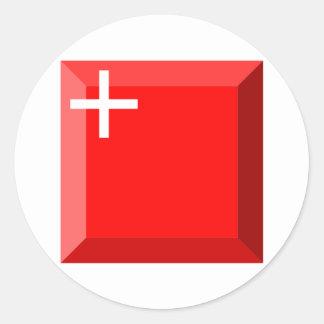 Gemme de drapeau de Schwyz Adhésif Rond
