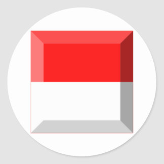 Gemme de drapeau de Solothurn Autocollant Rond