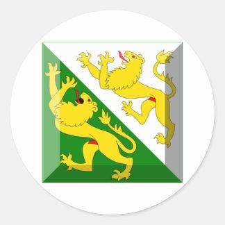 Gemme de drapeau de Thurgau Autocollants Ronds