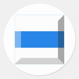 Gemme de drapeau de Zug Adhésifs Ronds