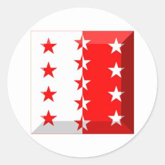 Gemme de drapeau du Valais Adhésif Rond