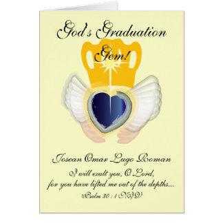 Gemme de l'obtention du diplôme de Dieu ! - Carte De Vœux