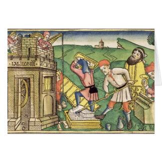 Genèse 11 1-9 construisant la tour de Babel, de t Carte De Vœux
