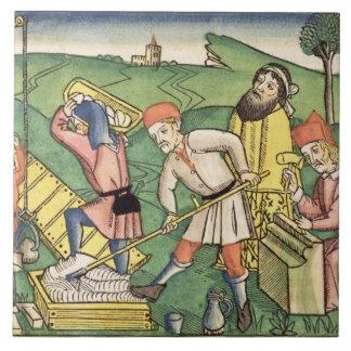 Genèse 11 1-9 construisant la tour de Babel, de t Grand Carreau Carré