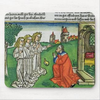 Genèse 18 2 Abraham et les trois anges, du Th Tapis De Souris
