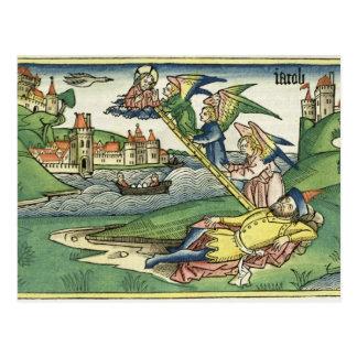 Genèse 28 l'échelle de 10 Jacob, de 'Nuremberg Cartes Postales