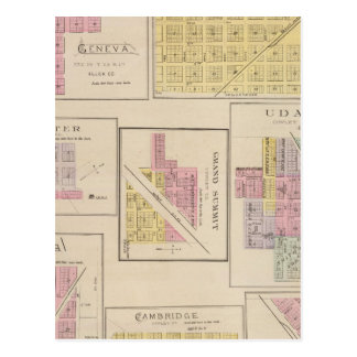 Genève, Atlanta, Dexter, sommet grand, le Kansas Cartes Postales