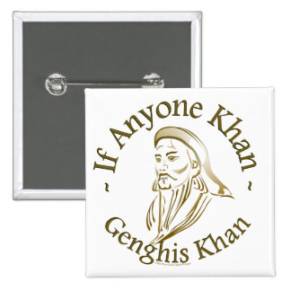 Genghis Khan Badge Carré 5 Cm