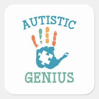 Génie autiste sticker carré