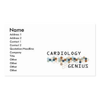 Génie de cardiologie cartes de visite professionnelles