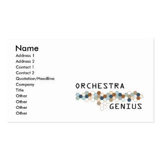Génie d'orchestre cartes de visite professionnelles