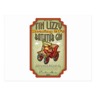 Genièvre de baignoire de Lizzy de bidon Carte Postale