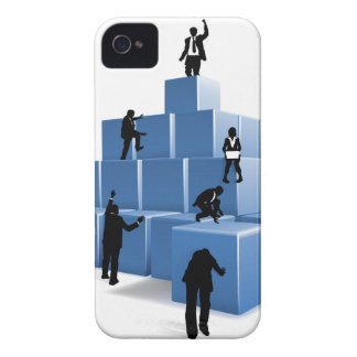 Gens d'affaires de silhouettes de blocs de coque Case-Mate iPhone 4