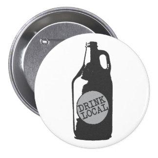 Gens du pays de boissons ! Bière locale de métier Badge