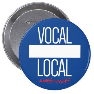 """Gens du pays vocaux do-it-yourself 4"""" bouton de badge"""