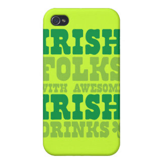 GENS IRLANDAIS AVEC LES BOISSONS IRLANDAISES IMPRE COQUE iPhone 4/4S