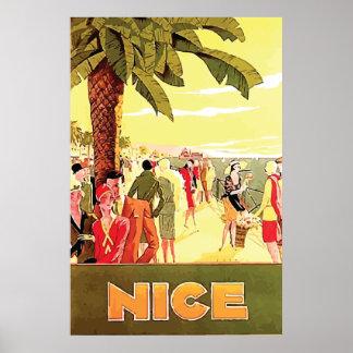 Gentil par voyage vintage de ~ de Lorenzi Posters