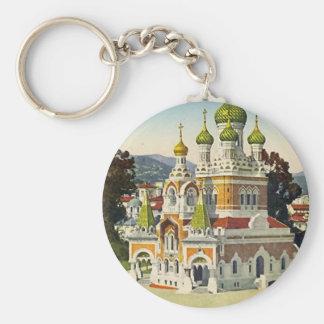 Gentil - porte - clé russe de cathédrale porte-clé rond