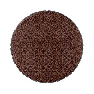 [GEO-BRO-1] Motif de pavé de Brown Boite De Bonbons Jelly Belly