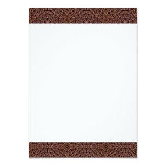 [GEO-BRO-1] Motif de pavé de Brown Carton D'invitation 11,43 Cm X 15,87 Cm