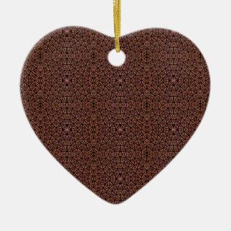 [GEO-BRO-1] Motif de pavé de Brown Ornement Cœur En Céramique