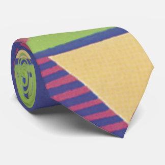 Geo moderne dans le raisin et le vert cravates