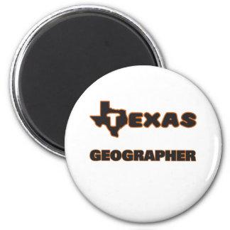 Géographe du Texas Magnet Rond 8 Cm